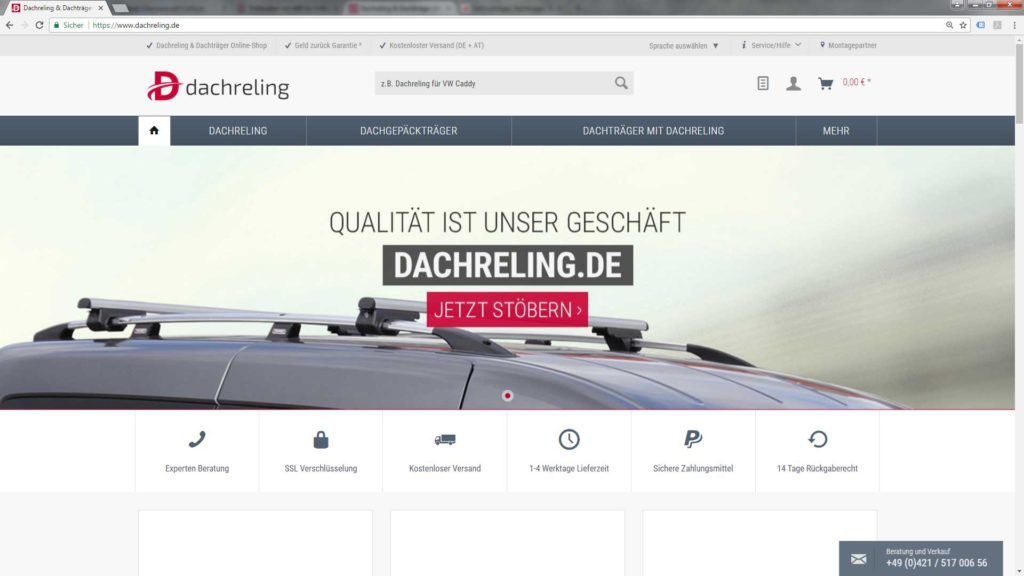 Dachreling Onlineshop